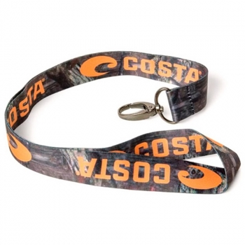 Шнурок COSTA DEL MAR Lanyard для бейджика цв. Mossy Oak/Orange Logo