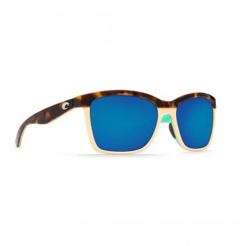 Очки поляризационные COSTA DEL MAR Anaa 580P р. M цв. Shiny Retro Tort/Cream/Mint цв. ст. Blue Mirror