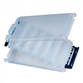 Коробка двухсторонняя MEIHO Reversible 120 цв. прозрачный / синий в интернет магазине Rybaki.ru