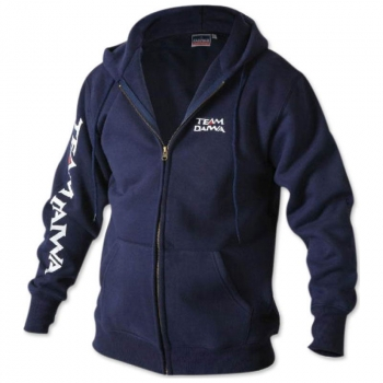 Толстовка DAIWA Team Zipper Hooded Top цвет Navy в интернет магазине Rybaki.ru