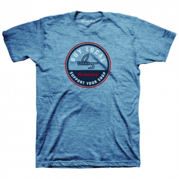 Футболка SIMMS Buy Local T-Shirt цвет Light Blue Heather