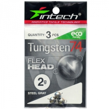 Груз разборный INTECH Tungsten 74 Steel Gray 0,7 г (5 шт.) в интернет магазине Rybaki.ru