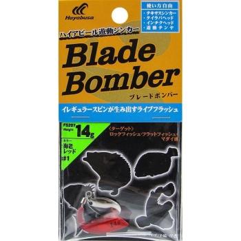 Груз-спиннер HAYABUSA FS207 Blade Bomber 14 г цв. Красный/серебряный