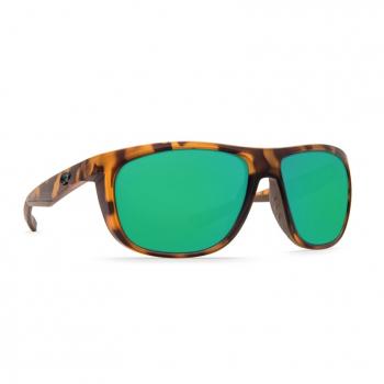 Очки поляризационные COSTA DEL MAR Kiwa W580 р. XL цв. Matte Retro Tortoise цв. ст. Green Mirror Glass