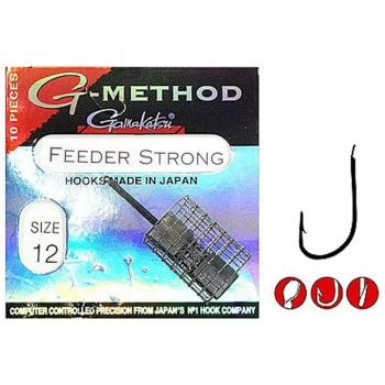 Крючок одинарный GAMAKATSU G-Method Feeder Strong B № 12 (10 шт.)