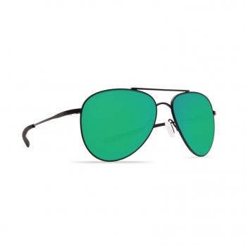 Очки поляризационные COSTA DEL MAR Cook 580P р. L цв. Satin Black цв. ст. Green Mirror