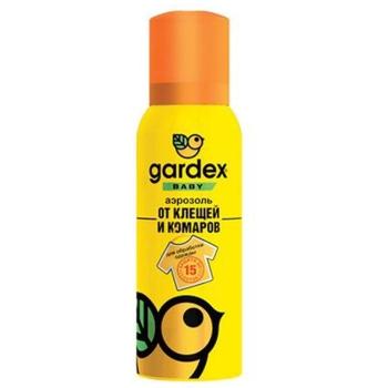 Аэрозоль GARDEX Baby от клещей и комаров на детс. одежду 100 мл в интернет магазине Rybaki.ru