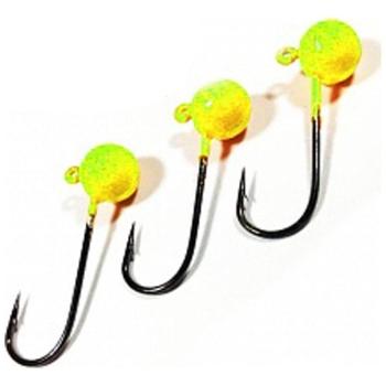 Джиг-Головка ТУЛА цв. желтый (3 шт.) 0,5 гр на крючке MARUTO