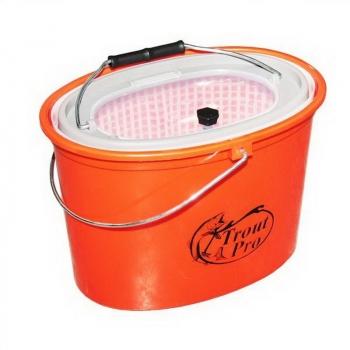 Кан TROUT PRO XHS-325 рыболовный 5 л оранжевый в интернет магазине Rybaki.ru