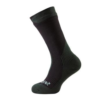 Носки SEALSKINZ Trekking Thick Mid Sock цвет Black / Racing Green в интернет магазине Rybaki.ru