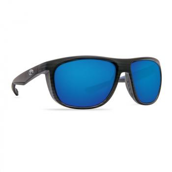 Очки поляризационные COSTA DEL MAR Kiwa 580P р. XL цв. Matte Black цв. ст. Blue Mirror