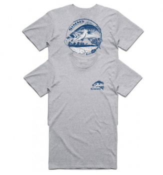 Футболка SIMMS Bass Bend T-Shirt цвет Grey Heather