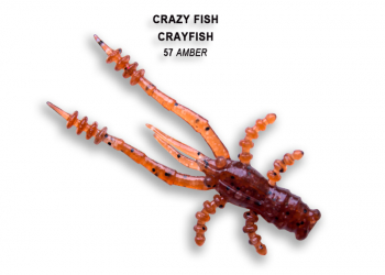 "Рак CRAZY FISH Crayfish 1,8"" (8 шт.) зап. кальмар, код цв. 57"