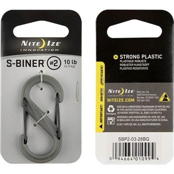 Карабин пластиковый NITE IZE S-Biner р. 2 цв. зеленый/черный клапан в интернет магазине Rybaki.ru