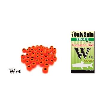 Головка вольфрамовая ONLY SPIN Trout Tungsten Ball 2 мм цв. Оранжевый (5 шт.)