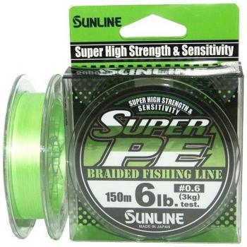 Плетенка SUNLINE New Super PE 150 м 0.4 цв. light green в интернет магазине Rybaki.ru