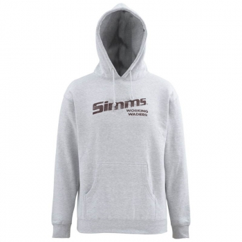 Толстовка SIMMS Working Waders Hoody цвет Grey в интернет магазине Rybaki.ru