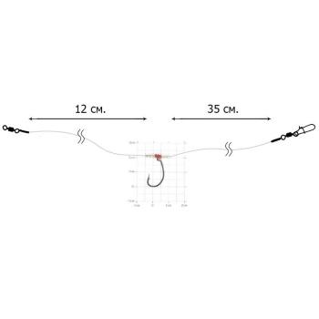 Оснастка спиннинговая DIXXON Drop Shot (40 см, кр. № 1/0, тест 16 кг) в интернет магазине Rybaki.ru