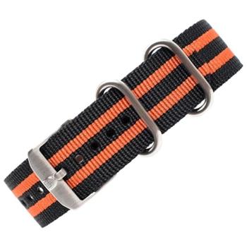Ремешок LUMINOX нейлоновый с оранжевыми полосами для часов 3950 ш. 23 мм цв. черный в интернет магазине Rybaki.ru