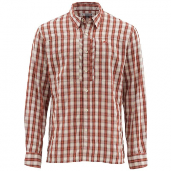 Рубашка SIMMS Bugstopper LS Shirt цвет Plaid Rusty Red