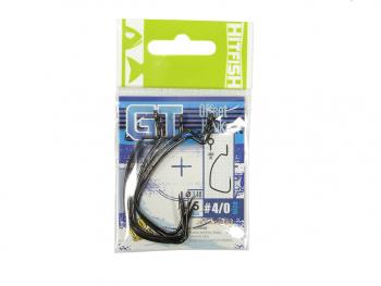 Крючок офсетный HITFISH GT Offset Hook № 1/0 (7 шт.)
