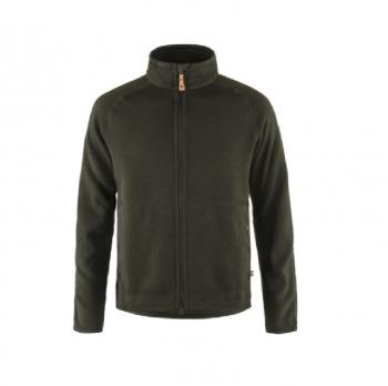 Жакет FJALLRAVEN Ovik Fleece Zip Sweater M цвет Deep Forest