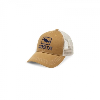 Бейсболка COSTA DEL MAR Bass Trucker Hat цв. Working Brown
