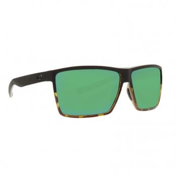 Очки поляризационные COSTA DEL MAR Rincon 580P р. XL цв. Matte Black/Shiny Tortoise цв. ст. Green Mirror