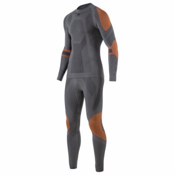 Комплект термобелья V-MOTION Alpinesports & SSFIT мужской цвет черно-оранжевый в интернет магазине Rybaki.ru