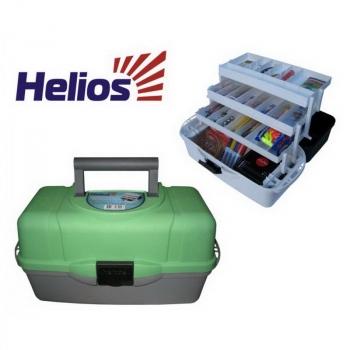 Ящик рыболовный HELIOS трехполочный зеленый HELIOS (Тонар) в интернет магазине Rybaki.ru