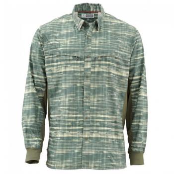 Рубашка SIMMS BugStopper Intruder BiComp цвет Mountain Print Loden