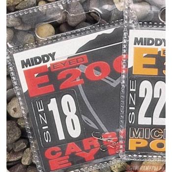 Крючок одинарный MIDDY E200 Mic Barb Eyed (10 шт.) № 22