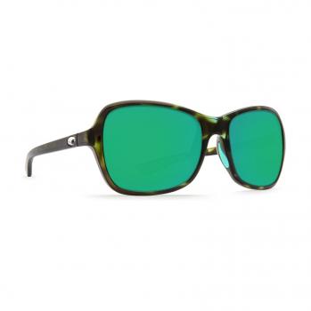 Очки поляризационные COSTA DEL MAR Kare 580P р. S цв. Shiny Kiwi Tortoise цв. ст. Green Mirror
