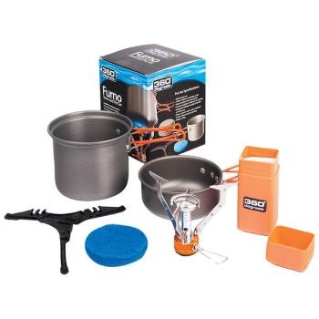Комплект 360 DEGREES Furno Stove&Pot (газовая горелка и 2 котелка по 850 и 350 мл) в интернет магазине Rybaki.ru