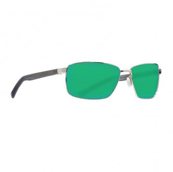 Очки поляризационные COSTA DEL MAR Ponce 580G р. L цв. Shiny Silver цв. ст. Green Mirror