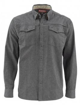 Рубашка SIMMS Stillwater Chambray цвет Charcoal