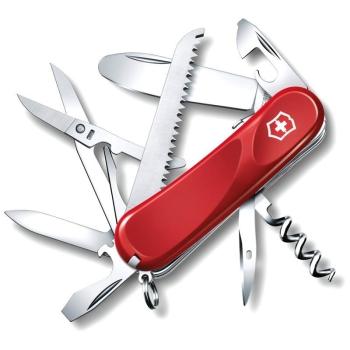 Нож VICTORINOX Junior 03 р. 85 мм, 15 функций, с фиксатором лезвия, цв. красный в интернет магазине Rybaki.ru
