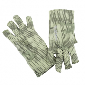 Перчатки SIMMS Ultra-Wool Core 3-Finger Liner цвет Hex Camo Loden