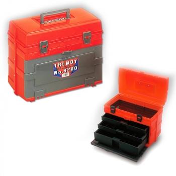 Ящик MEIHO №8200 Trendy W locking system цв. красный / черный