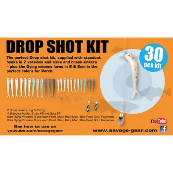 Набор оснастки SAVAGE GEAR Dying Minnow Drop Shot Pro Pack Kit (30 шт.) NL в интернет магазине Rybaki.ru