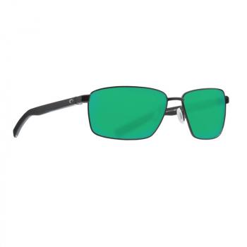 Очки поляризационные COSTA DEL MAR Ponce 580P р. L цв. Matte Black цв. ст. Green Mirror