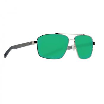 Очки поляризационные COSTA DEL MAR Flagler 580P р. L цв. Shiny Silver цв. ст. Green Mirror