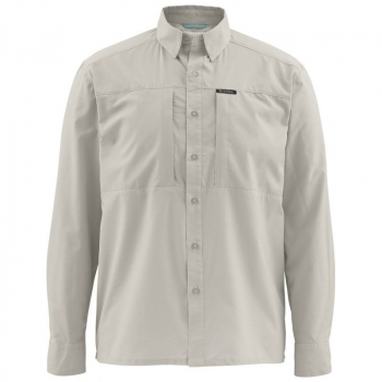 Рубашка SIMMS Ultralight LS Shirt цвет Putty в интернет магазине Rybaki.ru