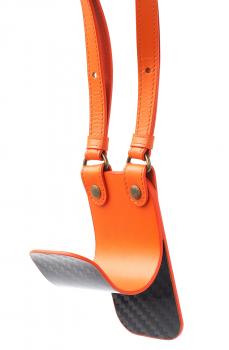 Разгрузка-подвес HUNTINGHORN 113 Углеволокно / Кожа цв. Оранжевый в интернет магазине Rybaki.ru