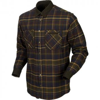 Рубашка HARKILA Pajala Shirt цвет Mellow Brown Check в интернет магазине Rybaki.ru