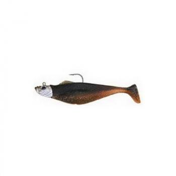 "Риппер MEGABAIT Набор: джиг головка + два риппера Chubby Shad 12,5 см (5"") коричнево-серебрянный (brown / silver)"