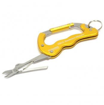 Карабин с ножницами GOLDEN MEAN Karabiner Scissors цв. Yellow