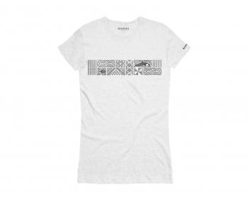 Футболка SIMMS Women's Gulf Prism T-Shirt цвет White Heather