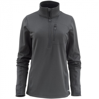 Пуловер SIMMS Women's Fleece Midlayer 1/2 Zip цвет Raven