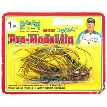 Бактейл STRIKE KING Pro-Model Jig 28 г (1 oz) цв. green crayfish